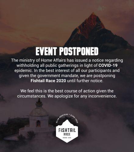 Fishtail Race Postponed